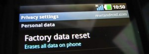 Hard reset Android on PC